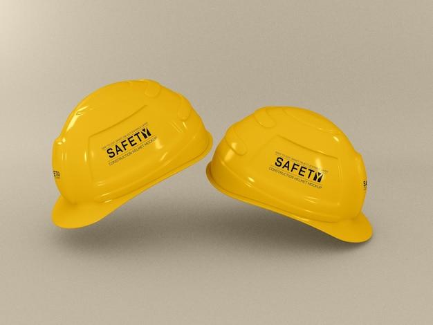 建設用ヘルメットのモックアップ