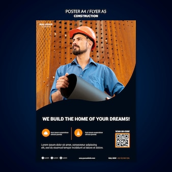 Construction poster template