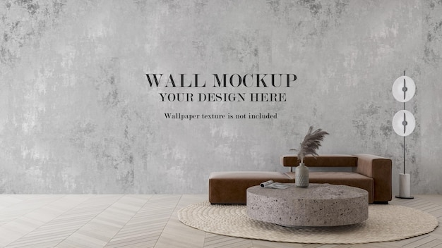 Contemporary interior mockup for wallpapers