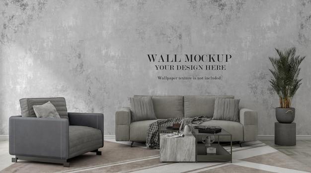 Contemporary living room wall mockup