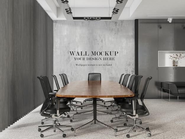Contemporary meeting room wallpaper mockup design