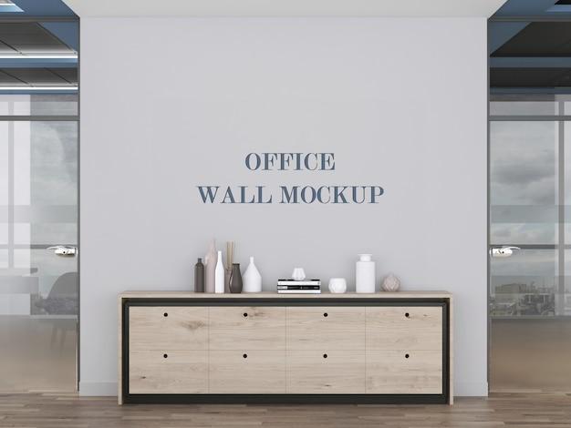 現代的なオフィスルームの壁のモックアップ