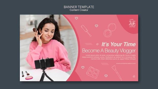 Tema modello banner creatore di contenuti
