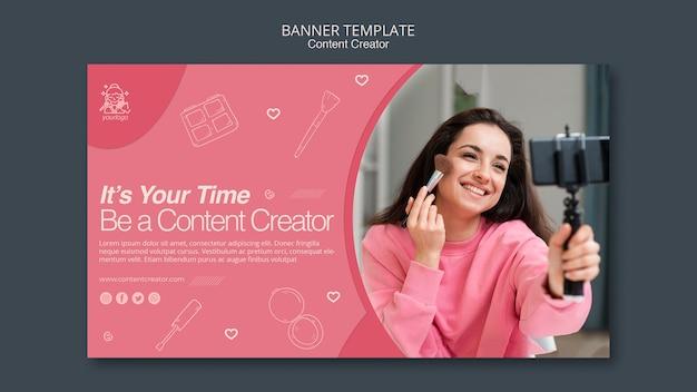 Banner creatore di contenuti
