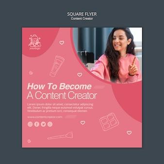 Content creator flyer template concept
