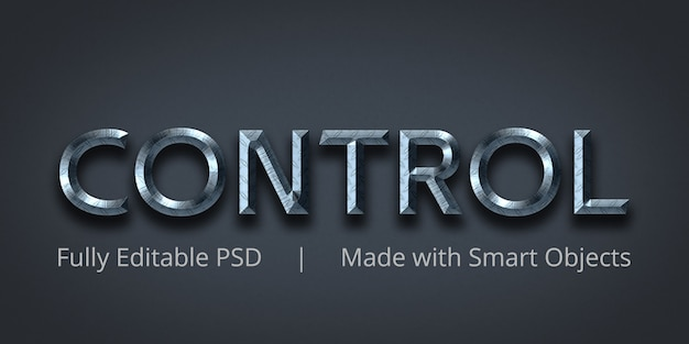 Control editable text style effect