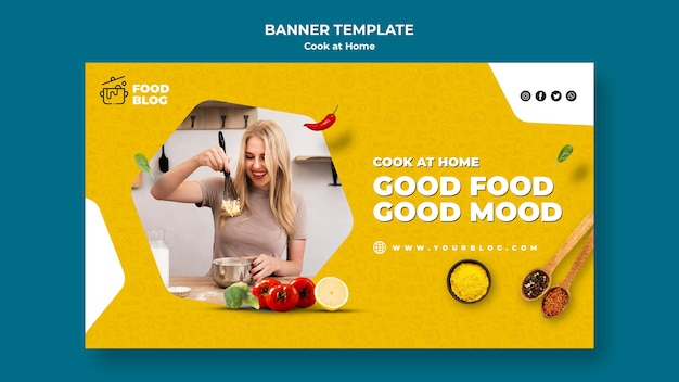 Cook at home banner template