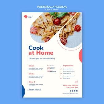 Cucinare a casa modello poster concetto
