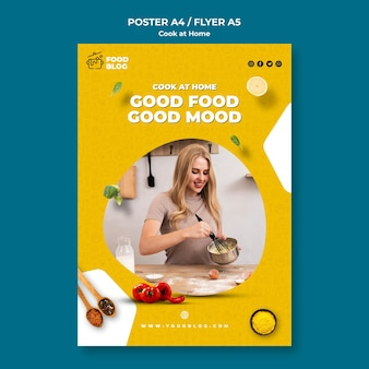 Cook at home poster theme