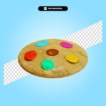 分離されたクッキー3dレンダリングイラスト