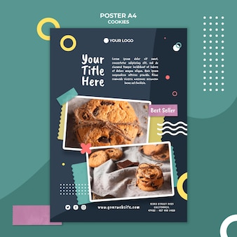 Cookie shop ad template poster