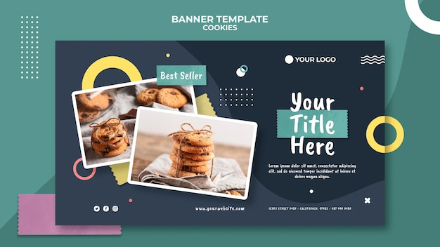 Cookie shop banner template