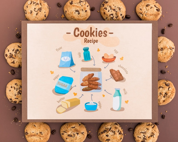 Cookies recipe mock-up