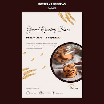 Cookies store poster template