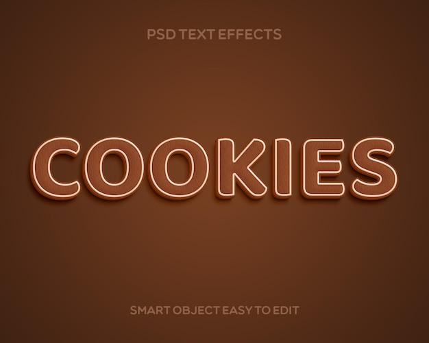 Cookies text effect