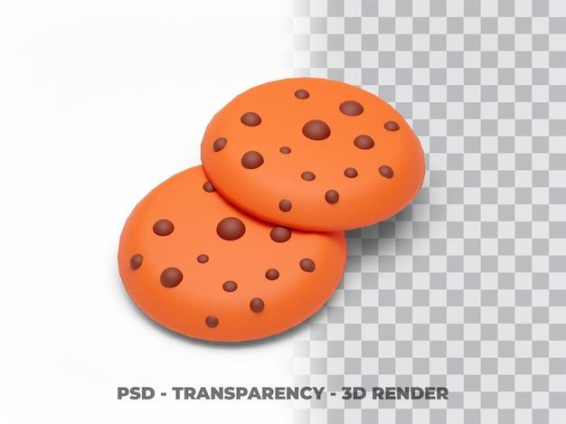 쿠키 투명도 3d 렌더링
