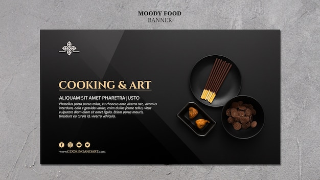 Cooking and art banner theme