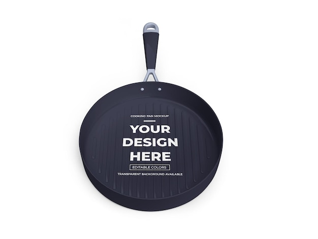 Cooking fry pan mockup isolated