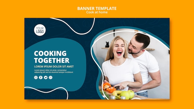 Cooking at home banner theme