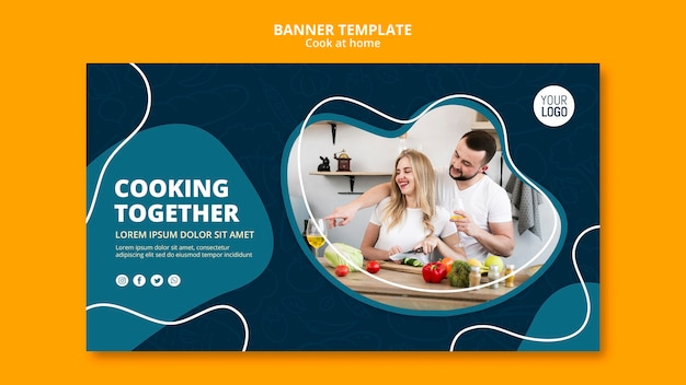 Cooking at home banner