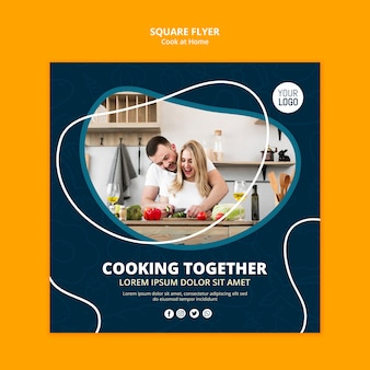 Cooking at home flyer