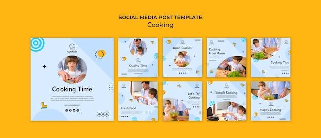 Cooking at home social media post