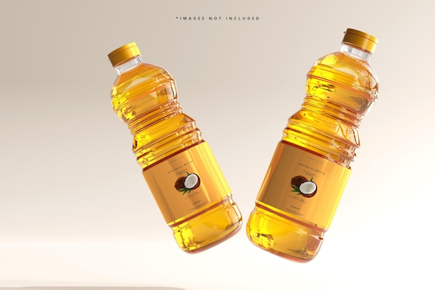 Cooking oil bottle mockup