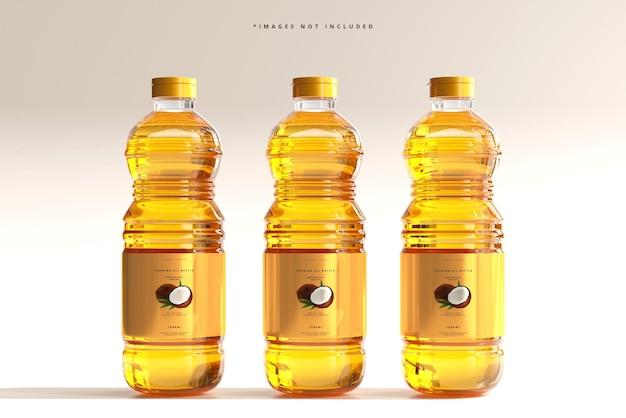 食用油瓶のモックアップ Premium Psd