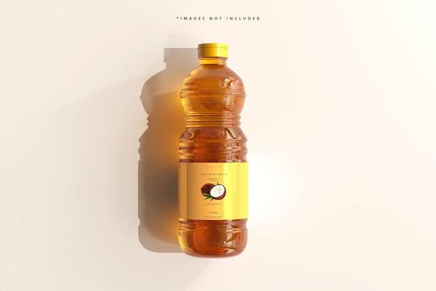 Мокап бутылки с растительным маслом