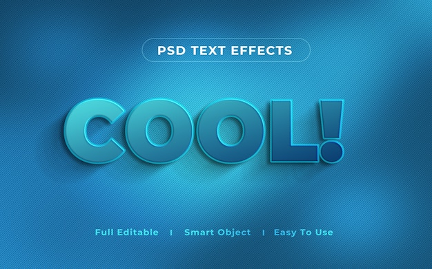 Cool 3d text effect mockup