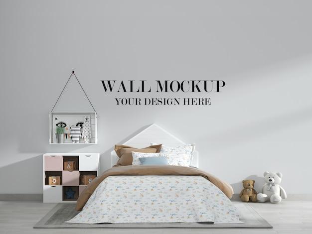 Классный и стильный макет стены детской спальни