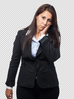 Cool business-woman toothache