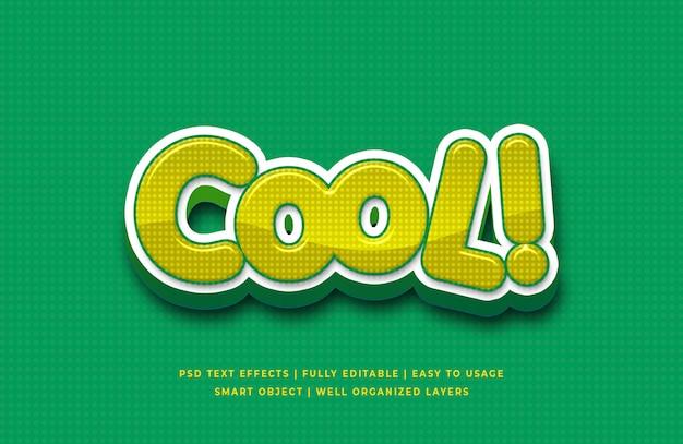 Cool cartoon 3d text style effect