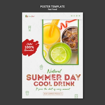 Cool drink poster template