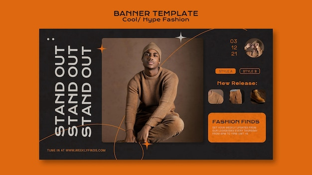 Cool fashion banner template