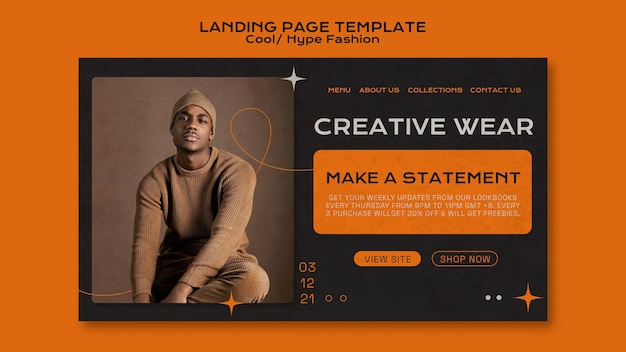 Cool fashion landing page