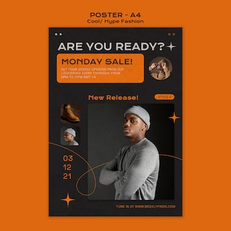Cool fashion poster template