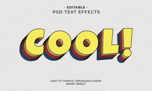 Современный красочный эффект cool text