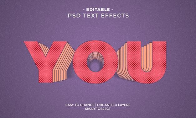 Современный красочный текстовый эффект cool you