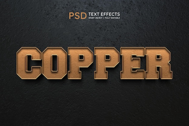 Copper text style effect