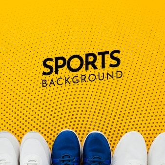 Copy-space спортивная обувь с макетом