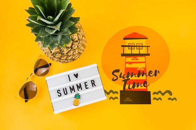 Copyspace макет для летних концепций