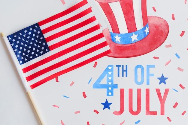 미국 독립 기념일을위한 copyspace 모형
