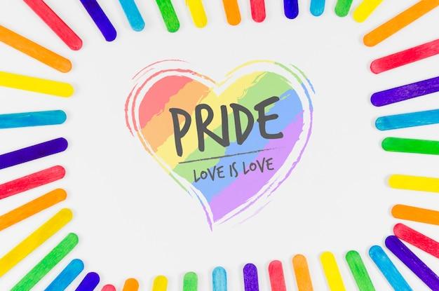 Copyspace mockup for lgbt pride day