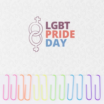 Copyspace mockup for lgbt pride day