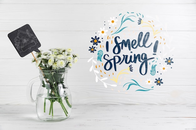 Copyspace mockup with spring concept