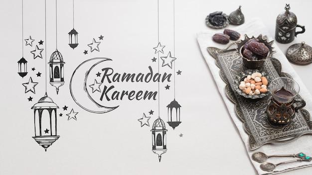 Copyspace макет с концепцией рамадан
