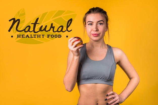 Copyspace макет с концепцией здорового питания