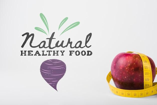 健康食品のコンセプトとcopyspaceのモックアップ