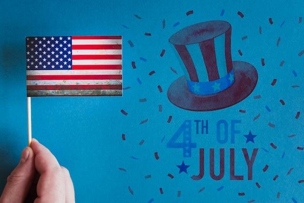 アメリカ独立記念日のためのcopyspaceモックアップ